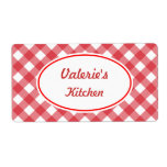 Bold Red Gingham Labels