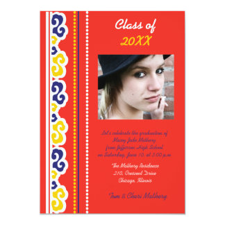 Bold Red -Graduation Party Invites. Card