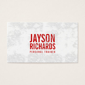 Bold Red Grunge Stamped Text Business Card