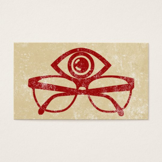 Bold Red Optometrist Business Cards