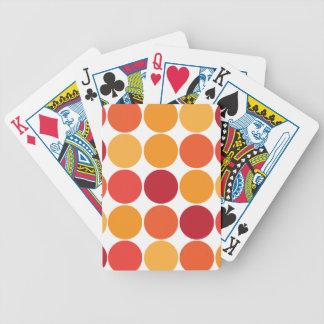 Bold Red Orange Big Polka Dots Circles Pattern Bicycle Poker Cards