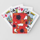 Bold Red Orange Poppies Playing Cards
