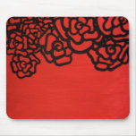 bold red rose mousepad