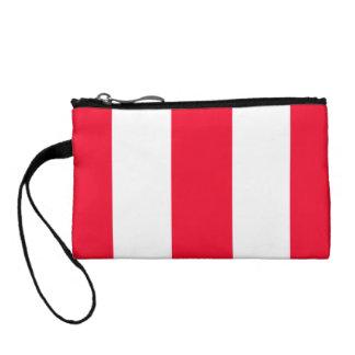 Bold Red Stripes Change Purse