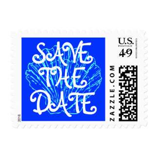 Bold reminder to SAVE THE DATE Postage Stamp