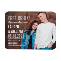 Bold Request Save The Date Magnet
