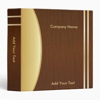 """Bold Rich Brown y diseño de Gold Company Carpeta 1 1/2"""""""