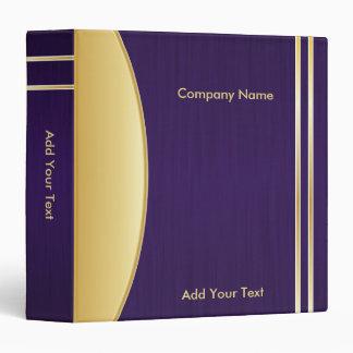 Bold Rich Dark Purple and Gold Company Design Binder