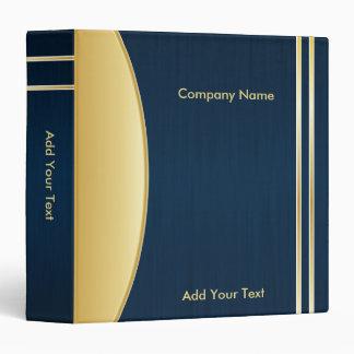 "Bold Rich Darkest Blue y diseño de Gold Company Carpeta 1 1/2"""