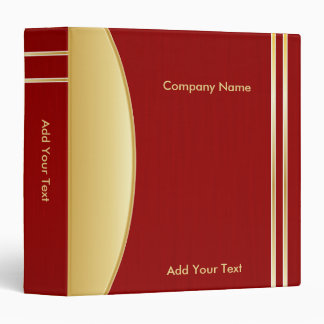 Bold Rich Red and Gold Company Design Binder