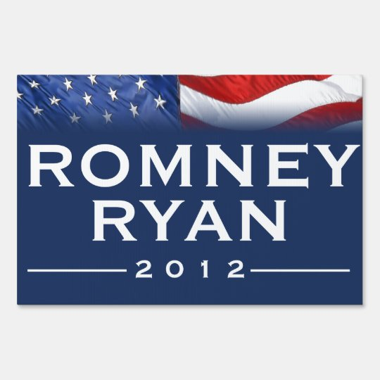 Bold ROMNEY/RYAN 2012 Yard Sign