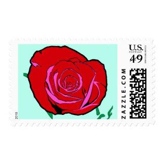 Bold Rose Original Illustration 20 Postage Stamps