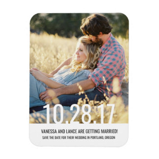 Bold Save the Date Photo Magnet \ WEDDINGS