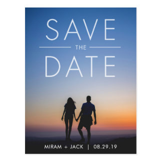 Bold Save the Date Postcard