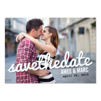 Bold Scribbles Photo Save The Date Announcement