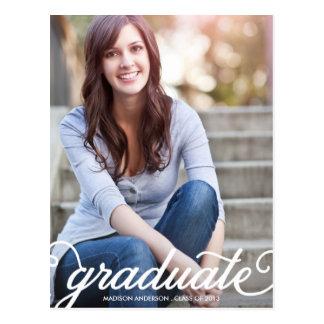 BOLD SCRIPT 2 | GRADUATION INVITATION POSTCARD