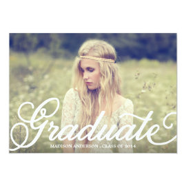 Bold Script| Graduation Party Invitation by FINEandDANDY at Zazzle