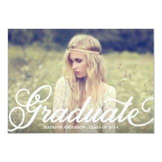 Bold Script| Graduation Party Invitation