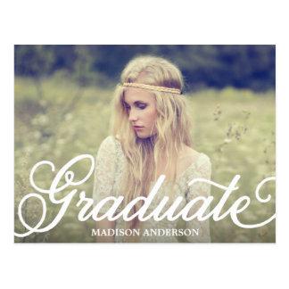 Bold Script | Graduation Postcard Invitation