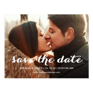 Bold Script   Photo Save the Date Postcard