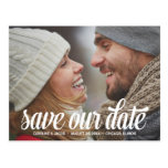 Bold Script | Photo Save the Date Postcard