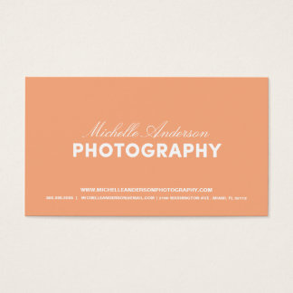 BOLD & SCRIPT | PHOTOGRAPHY BUSINESS CARD