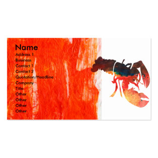 Bold Sea Life  Lobster Design Double-Sided Standard Business Cards (Pack Of 100)