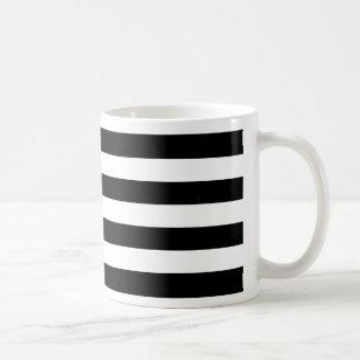 Bold Simple Black and White Stripes Coffee Mug