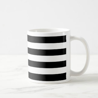 Bold Simple Black and White Stripes Coffee Mug
