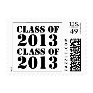 Bold Simple Black White Class of  2013 Graduate Postage