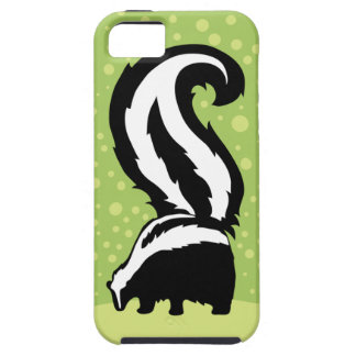 Bold Skunk Illustration With Green Dots iPhone 5 Case