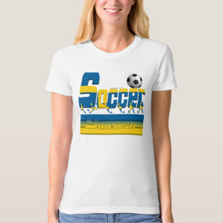 Bold Soccer Sweden Ladies Organic T-Shirt