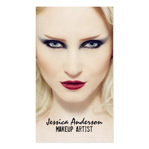 Bold Statement Makeup Artist Business Card Template