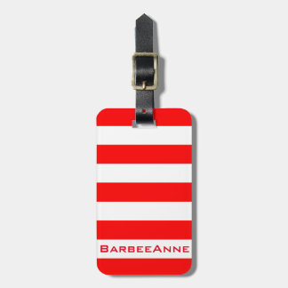 Bold Statement Red Luggage Tag