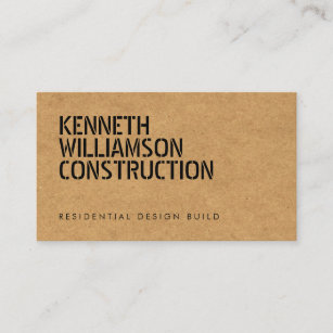 Chipboard business cards zazzle bold stenciled particle board construction business card colourmoves