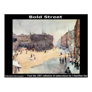 Bold Street, Liverpool. Postcard