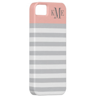 Bold Stripe Monogram Apple iPhone 5 Case Cover