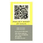 Bold Stripe QR Code Business Card