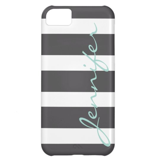 Bold Striped iPhone 5 Barely There Case   Charcoal