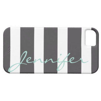 Bold Striped iPhone 5 Barely There Case | Charcoal iPhone 5 Cover
