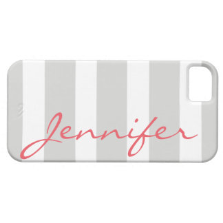 Bold Striped iPhone 5 Barely There Case | Grey iPhone 5 Cases