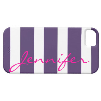 Bold Striped iPhone 5 Barely There Case | plum iPhone 5 Cases