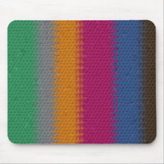 Bold Striped Mosaic Mouse Pad