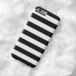 Bold Stripes Black and White iPhone 6 case at Zazzle