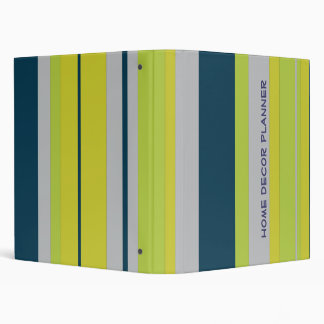 Bold Stripes in Blue 3 Ring Binder