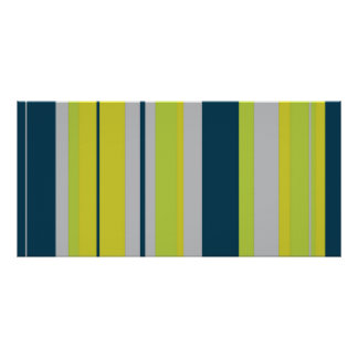 Bold Stripes in Blue Posters