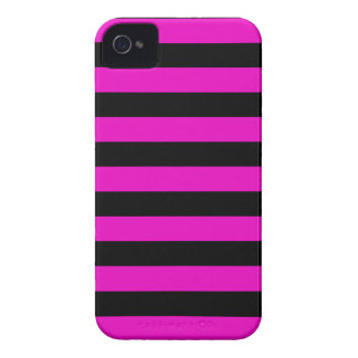 Bold Stripes iPhone 4/4S Cases - Shocking Pink