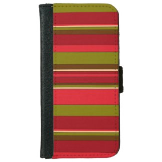 Bold Stripes iPhone 6 Wallet Case