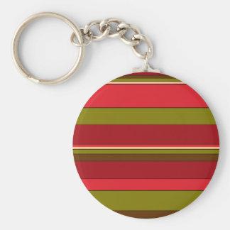 Bold Stripes Key Chain