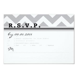 "Bold Stripes Response Card 3.5"" X 5"" Invitation Card"